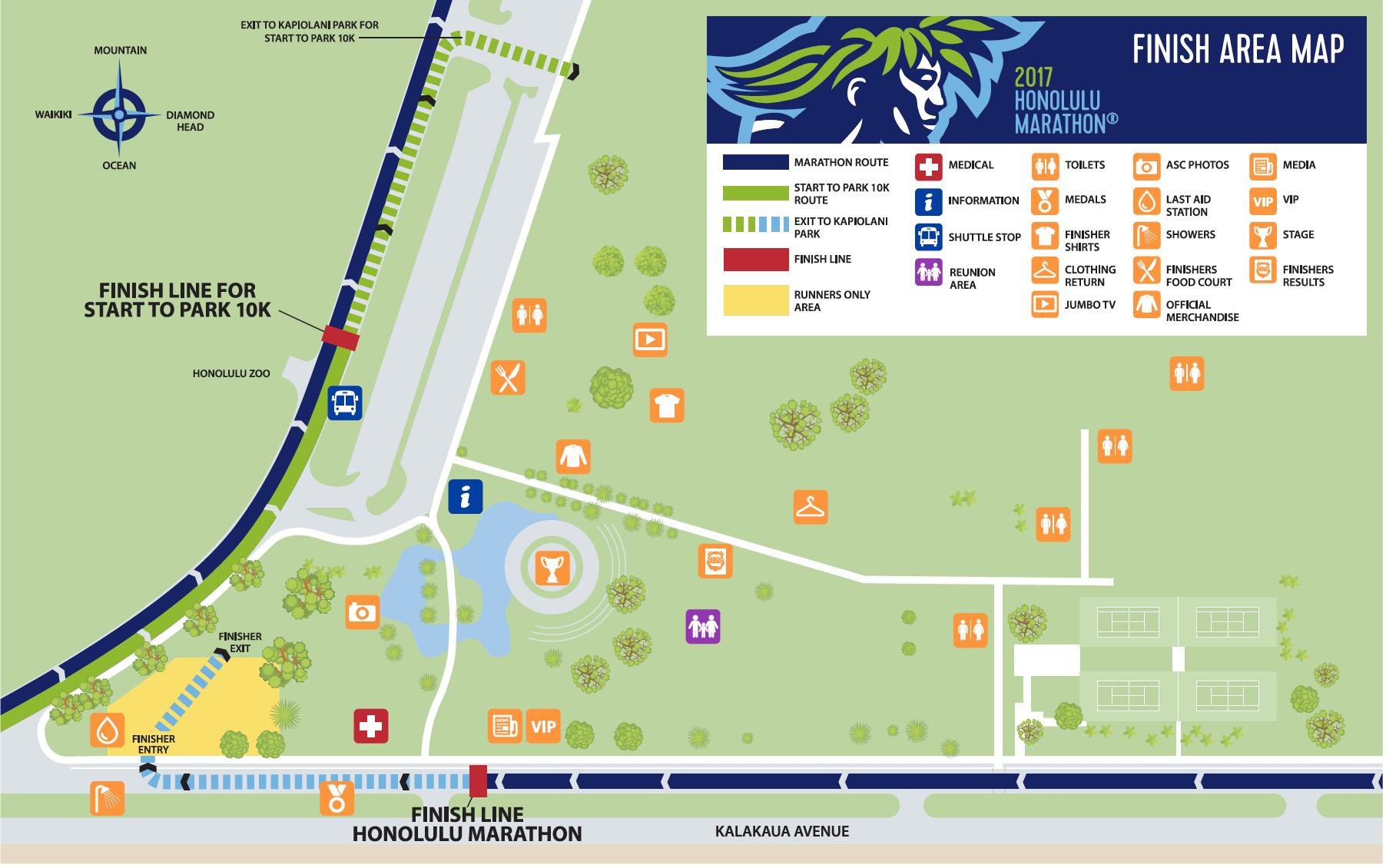 Finish Area : Honolulu Marathon
