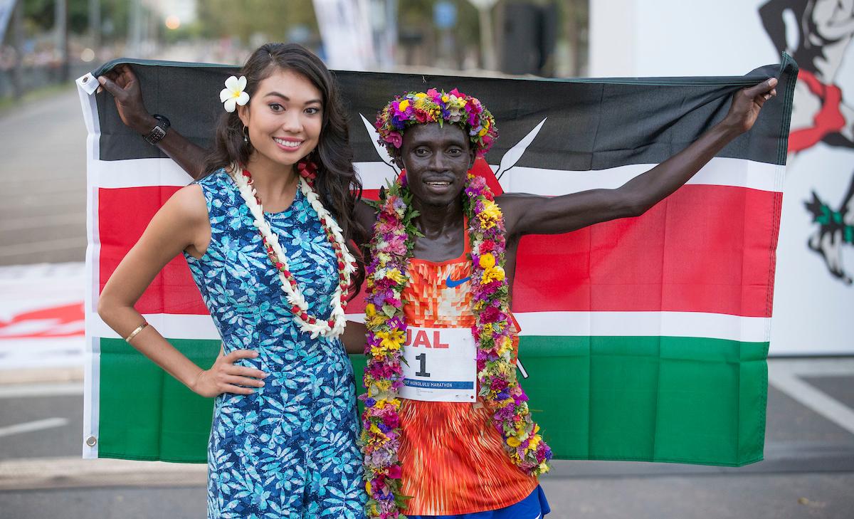 Honolulu Marathon Sunday, Dec. 10, 2017, at Waikiki in Honolulu.