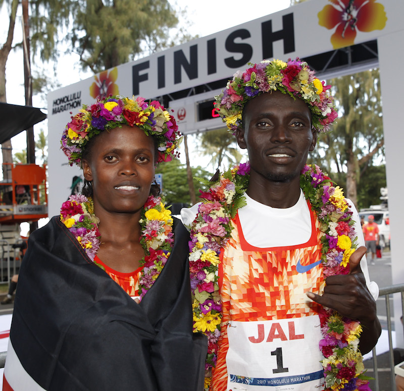 Image for COURSE RECORDS SMASHED AT HONOLULU MARATHON